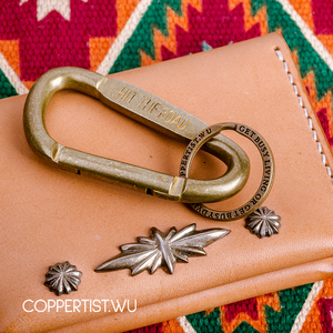 Image 3 - coppertist.wu Quick opening Clasp Brass Decorative pattern CARABINER Lobster Claw Hook Keyring Key Chain Keychain Pendant
