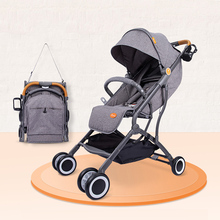 Baby Travel Stroller Baby Buggy Car Baby Pram Pushchair Lightweight Foldable Stroller Can Lie Or Seat Shockproof Baby Car