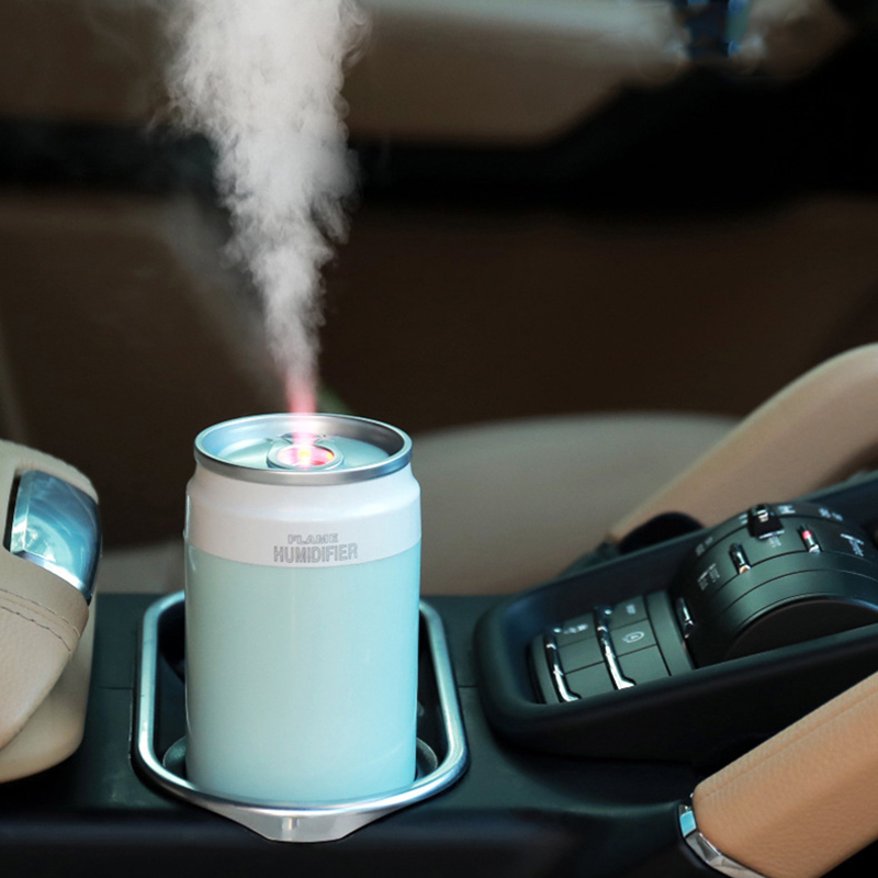 Flame Air Humidifier 200ML Air Purifier For Home USB Aromtherapy Essential Oil Diffuser Lamp Light Mist Maker Fogger For Car