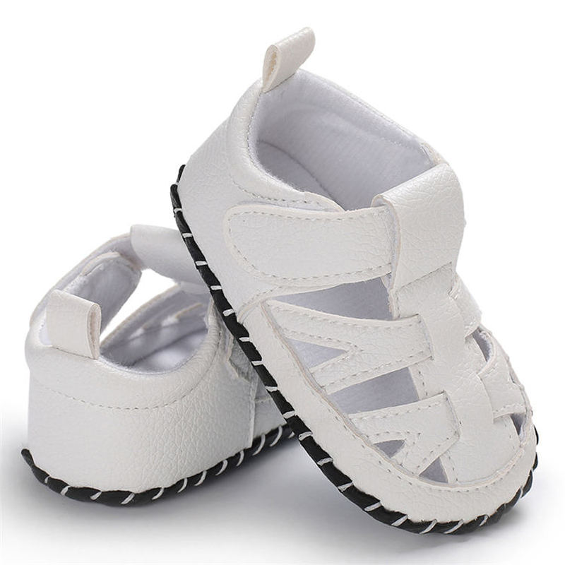 Summer New Baby Boy Infant White Sandals Soft Rubber Sole Outdoors Comfort  Casual Shoes Toddler Baby First Walkers Shoes