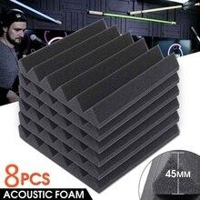 8Pcs 305 x 305 x 45mm High Density Soundproofing Foam Acoustic Foam Studio KTV Room Sound-Absorbing Noise Sponge Tiles