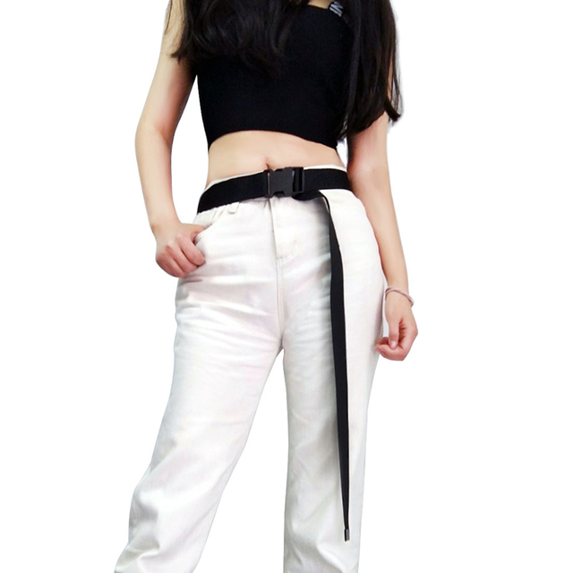 Fashion Black Canvas Belt for Casual Female Waist 1