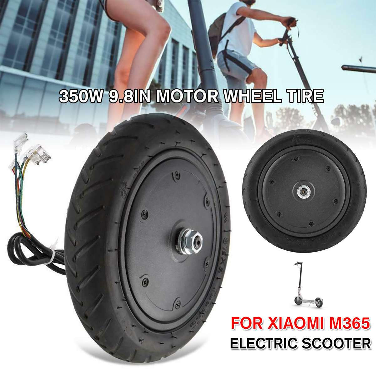 Electric Scooter Motor Explosion Proof Wheels 9.8inch 350W Tire for Xiaomi M365 Electric Scooter Replacement Parts