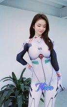 Anime ayanami rei macacões cosplay traje unisex zentai catsuit meninas halloween bodysuit