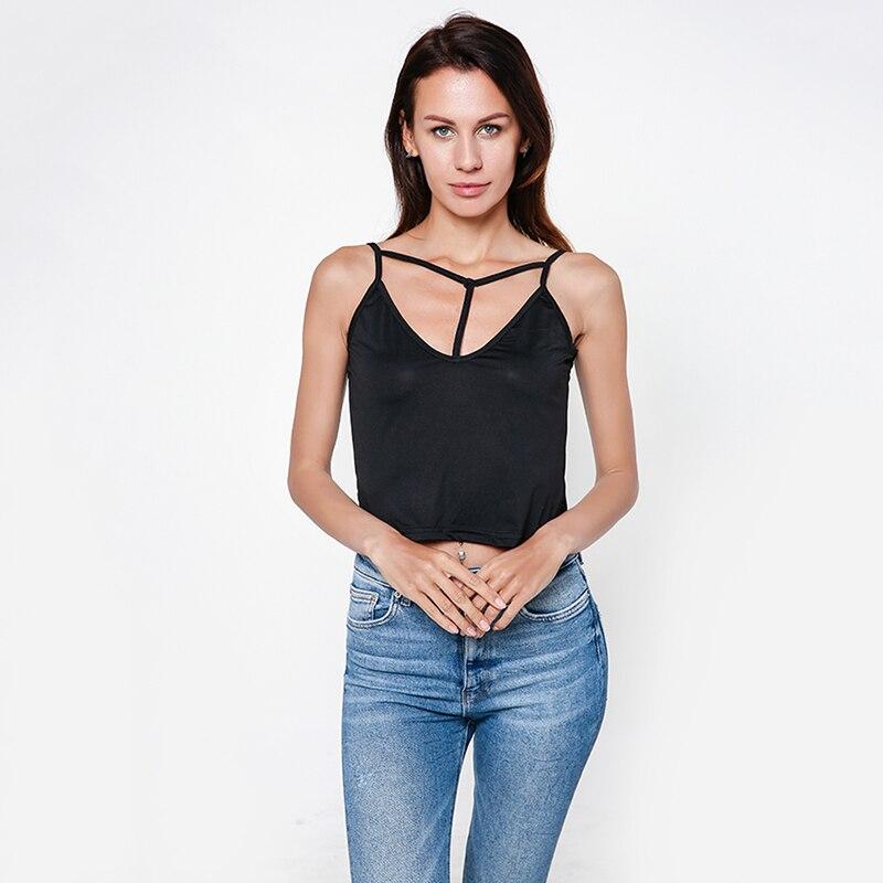 2020 Summer Slim Crop Tops Sexy Women Sleeveless Tank Tops Adjustable Camisoles Cotton Bustier Unpadded Bandeau Bra Vest