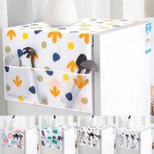 Чехол для стиральной машины с милым мультяшным принтом, органайзер для холодильника, пылезащитный чехол с карманом для домашнего декора
