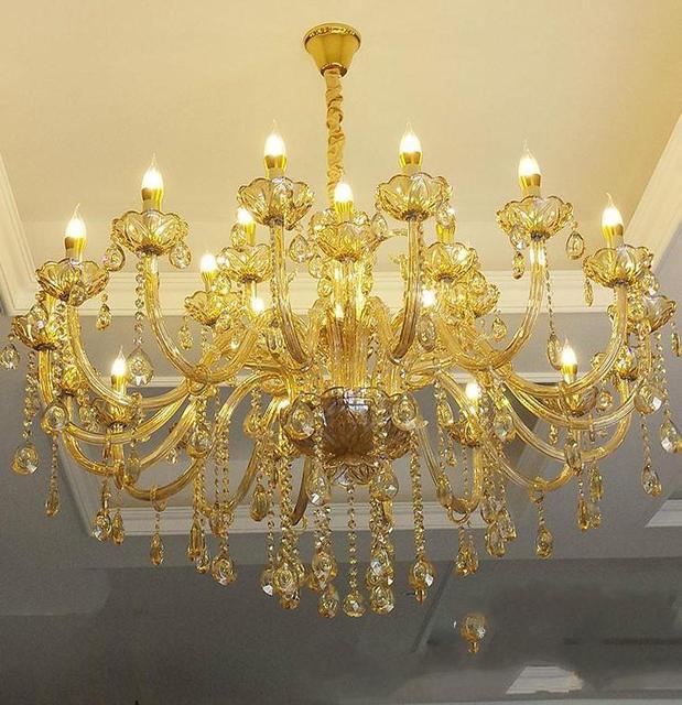 6 24 pieces style baroque led bougeoir lustres hotel salon champagne cristal lustre chambre ambre cristal eclairage