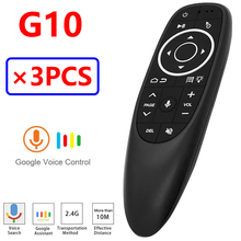 [3PCS] G10 G10S Pro Voice Air Mouse Support Googel Voice Search and Assistant Android TV Box BT Blueteeth Backlit Air Remote