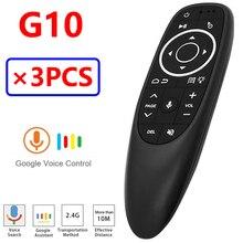 G10 G10S Pro – télécommande à rétroéclairage, 3 pièces, pour télévision Android, bluetooth, prise en charge de la recherche vocale google et Assistant