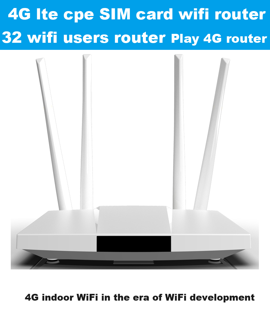 LC112 4G lte cpe SIM-карта, Wi-Fi роутер 300m CAT4 32 wifi маршрутизатор пользователей RJ45 WAN LAN Внутренний 4G wifi роутер 10 заказов