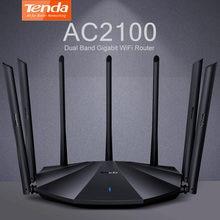 Tenda AC23 AC2100 двухдиапазонный гигабитный WiFi маршрутизатор IPV6 покрытия для дома Беспроводной 4X4 MU-MIMO Настройка VPN Поддержка 25 ~ 35 устройств