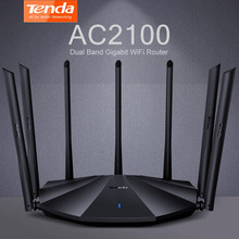 Tenda AC23 Dual Band Gigabit WiFi AC2100 Router IPV6 Home Coverage Wireless 4X4MU-MIMO VPN Support 25~35 Devices Chinese Version