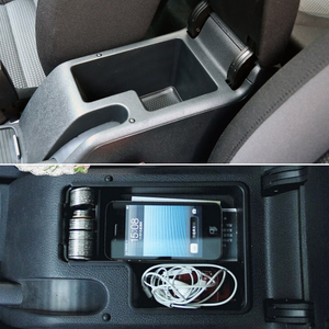 Image 2 - Newest Version Car Glove Box Armrest Box Secondary Storage For  Volkswagen VW MK6 Golf 6 GTI SCIROCCO car styling