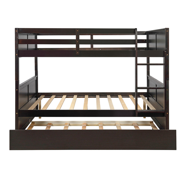 Bunk Bed with Twin Size Trundle w/  Ladder  5