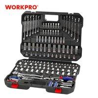 Workpro 164 pc conjunto de ferramentas chave soquete conjunto ferramentas manuais para o reparo do carro conjunto de instrumentos de ferramentas soquetes conjunto chaves catraca chaves chaves|tool kit|wrench screwdriver|set wrench -