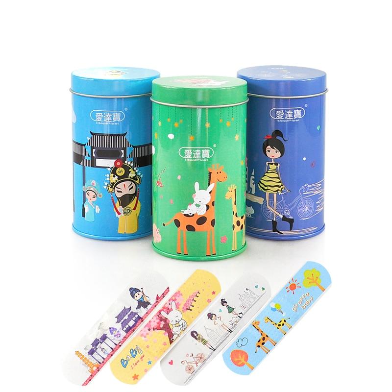 50 Pcs/box Cartoon Band Aid Breathable Hemostasis Adhesive Bandages First Aid Supplies Cute Anti Grinding Feet PE Band-aids