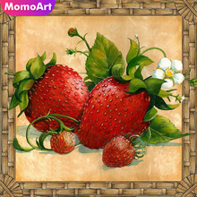 MomoArt Diamond Painting Fruit Mosaic Full Drill Square Rhinestone Embroidery Landscape Home Decor