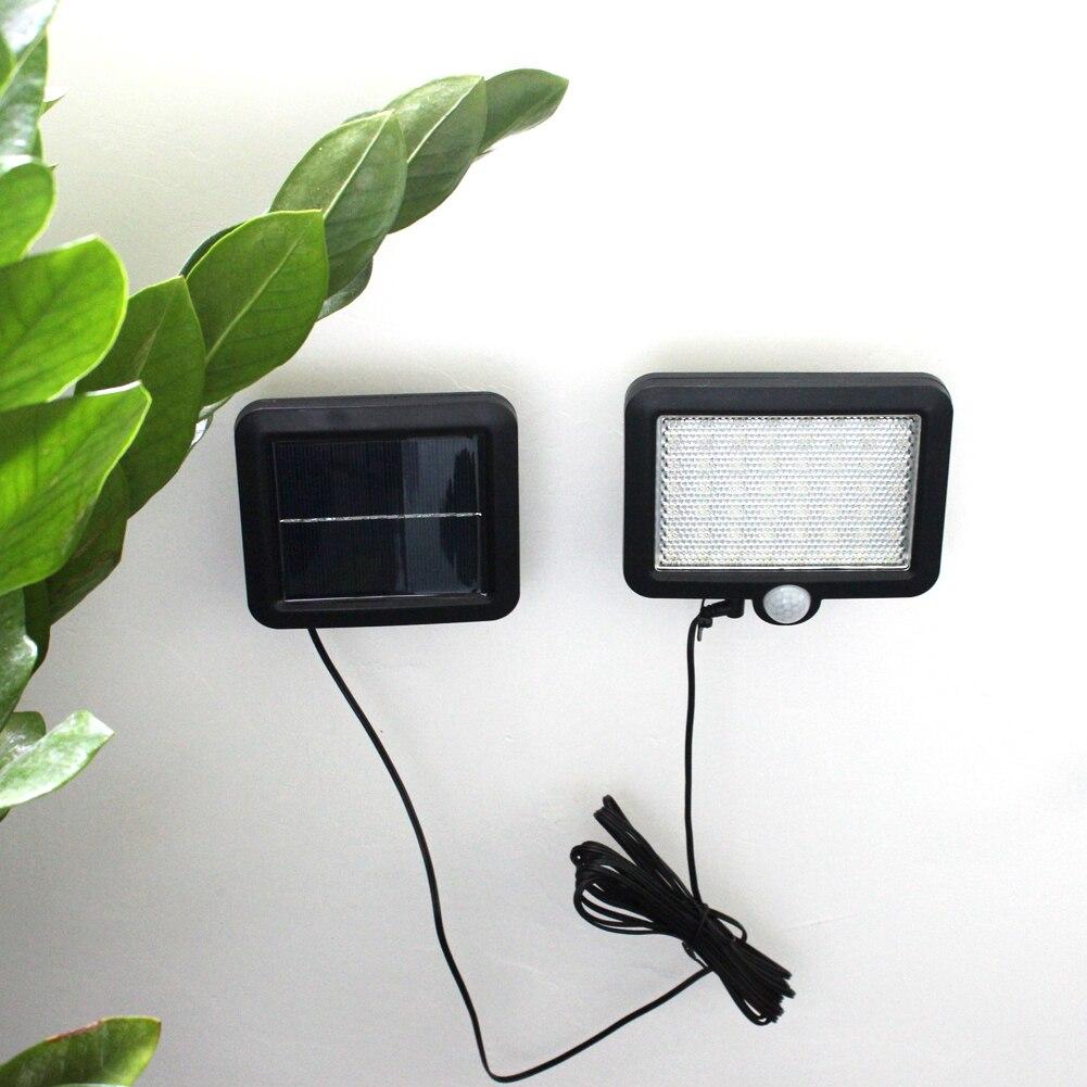 Wall-Lamp Security-Lamp Power-Motion-Sensor LED Outdoor Garden Solar Waterproof 56