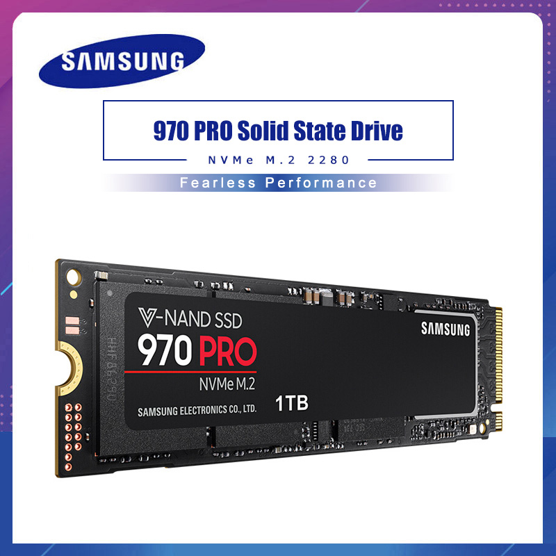 Samsung 970 PRO v-nand NVME PCIE M.2 disque dur SSD HD SSD 1 to disque dur solide 512GB HDD MLC 2280 pour ordinateur portable