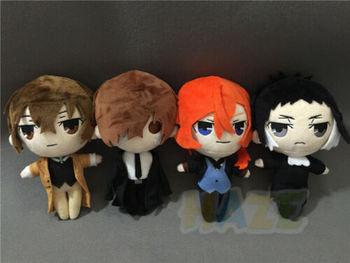 Anime Stray Dogs Osamu Dazai Nakahara Chuuya Ryunosuke Akutagawa Plush Doll Toy Kids Gifts недорого