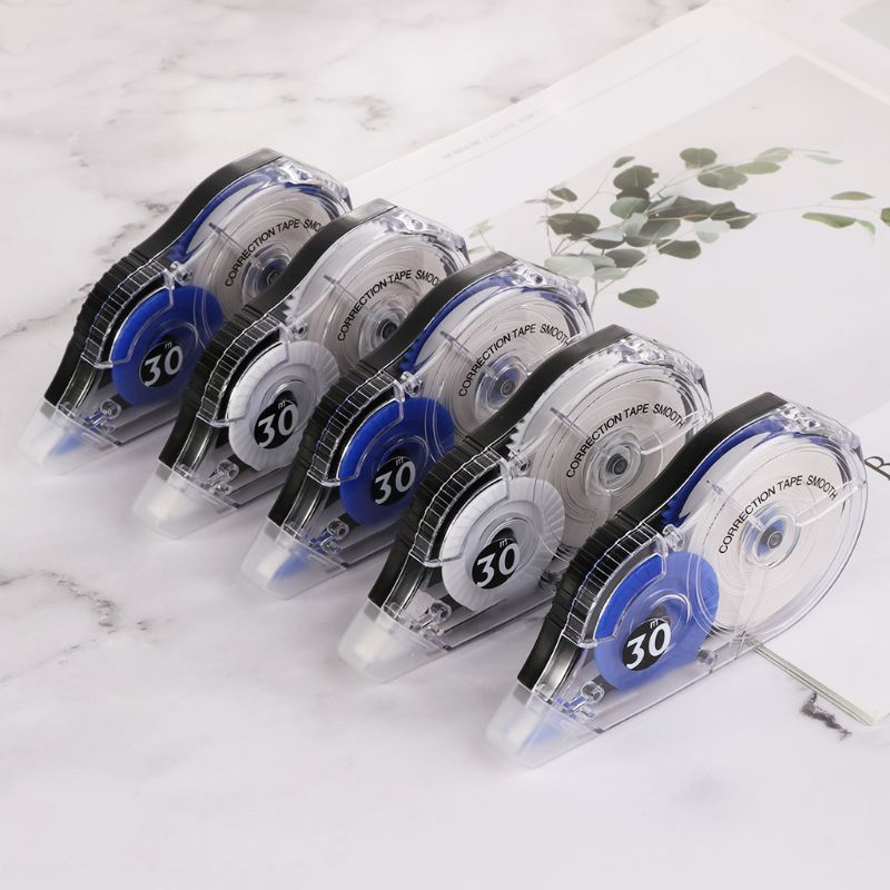 5pcs/set Practical Correction Tape Roller 30m Long White Sticker Study Stationery Office Tool School Supplies