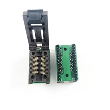SOP28 SOIC28 SO28 to DIP28 Pitch 1.27mm Body Width 7.5mm IC Test programming socket 300mil clamshell ZIF Adapter