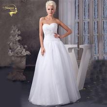 Жанна любовь Милая органзы белого цвета простые линии Свадебные