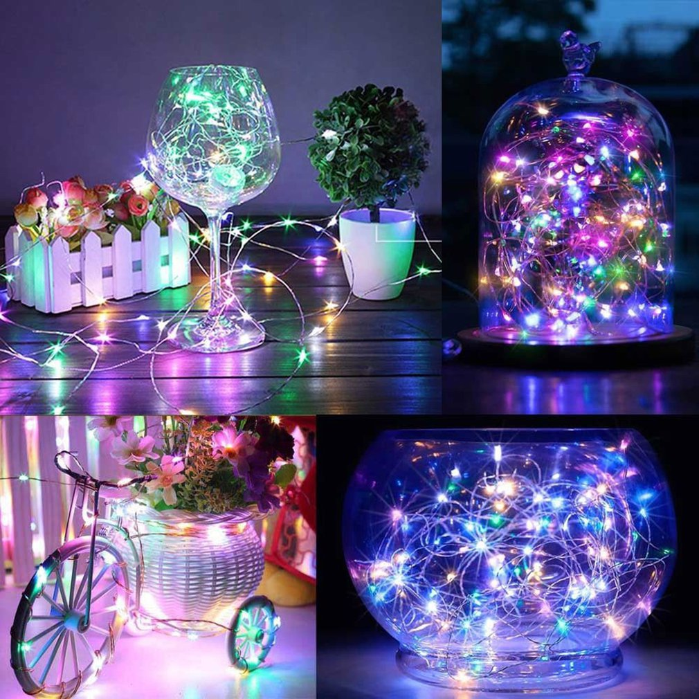 10 Meters Copper Wire 8 Function Always Bright Remote Control Battery Box Copper Wire String Light String Decoration