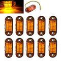 Fuleem, 10 шт., желтого цвета, 2 светодиодных лампы, боковой габаритный фонарь, удобсветильник, 12 В, 24 В, водонепроницаемый