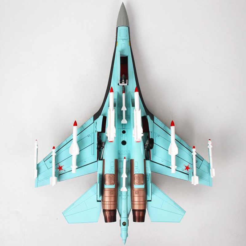 1/48 escala Unión Soviética Fuerza Aérea ejército de la Marina Su 35 aviones de combate Rusia avión modelo niños adultos juguete f colección de exhibición