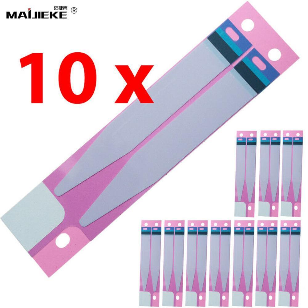 10XBattery Klebstoff Aufkleber Für iPhone 12 11 pro max mini X Xr Xs max 5s 6 6s 7 8 plus Batterie Kleber Band Streifen Tab Ersatz