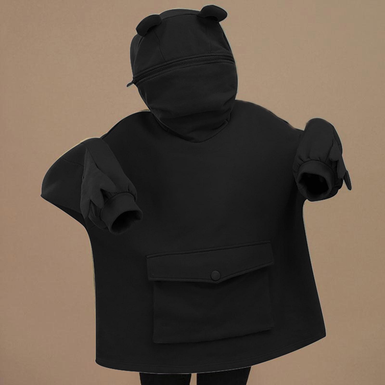 Oversized Hoodie Women Streetwear Casual Frog Printed Sweatshirt Women Winter Clothes Pullovers Tops Ropa De Mujer 2021