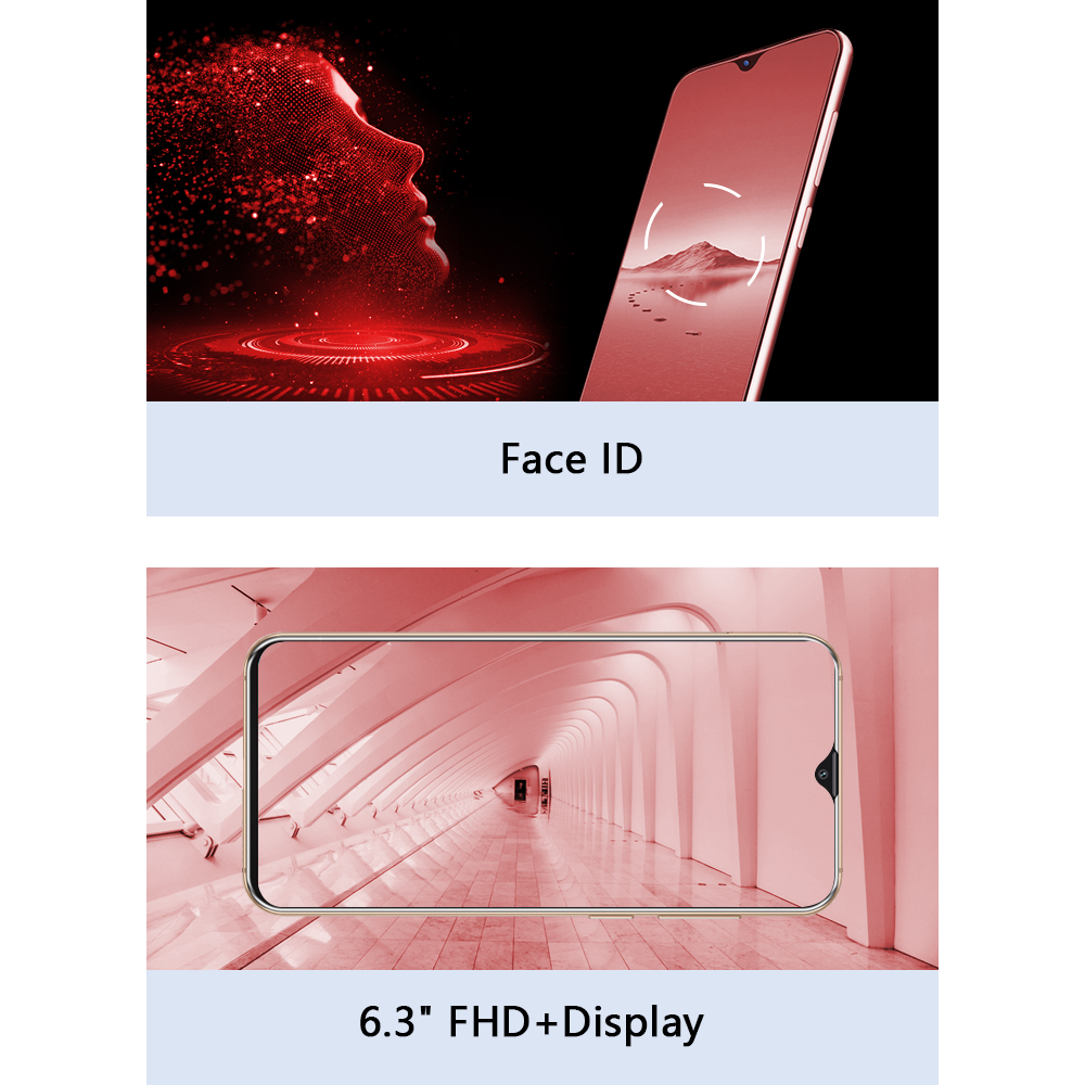 """Image 3 - Cubot X20 Pro Smartphone 6.3"""" FHD+Waterdrop Screen 6GB+128GB Android 9.0 AI Mode Triple Camera Face ID Cellura Helio P60 4000mAh-in Cellphones from Cellphones & Telecommunications"""