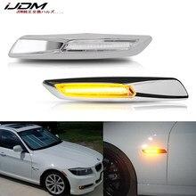 IJDM-Luz LED de posición lateral para BMW, luces intermitentes estilo ámbar de 12V para BMW serie 1 3 5 F30/E90/E91/E92/E93/E46 E60/E61