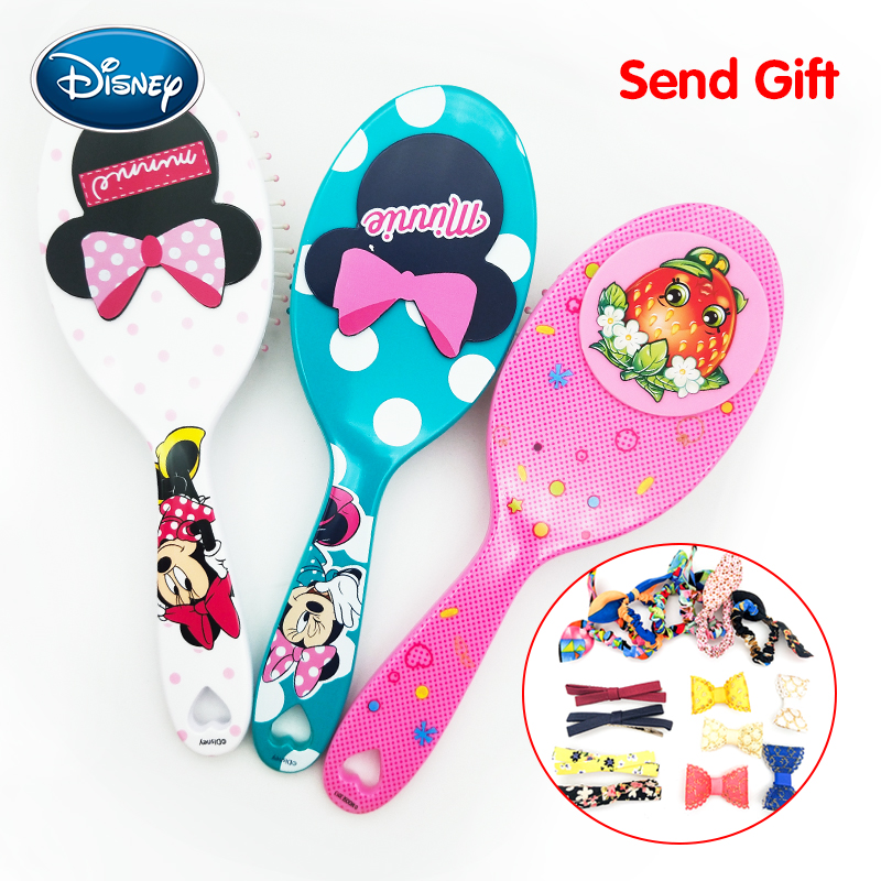 Disney Cartoon Massage Air Cushion Comb Cute Portable Fashion Creative Lovely Tangle Curly Hair Brush With Small Mirror Combs