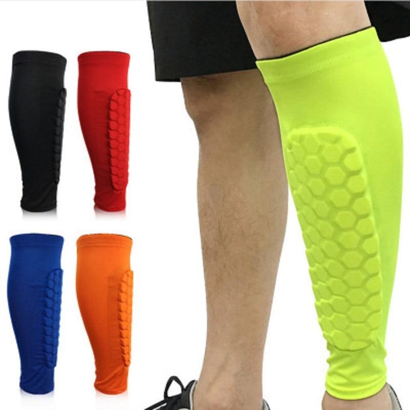 Hot Sales Football Shin Guards  Calf Protection  Basketball Anti - Fall Shank Protection Socks  Tight Honeycomb Shin Protection