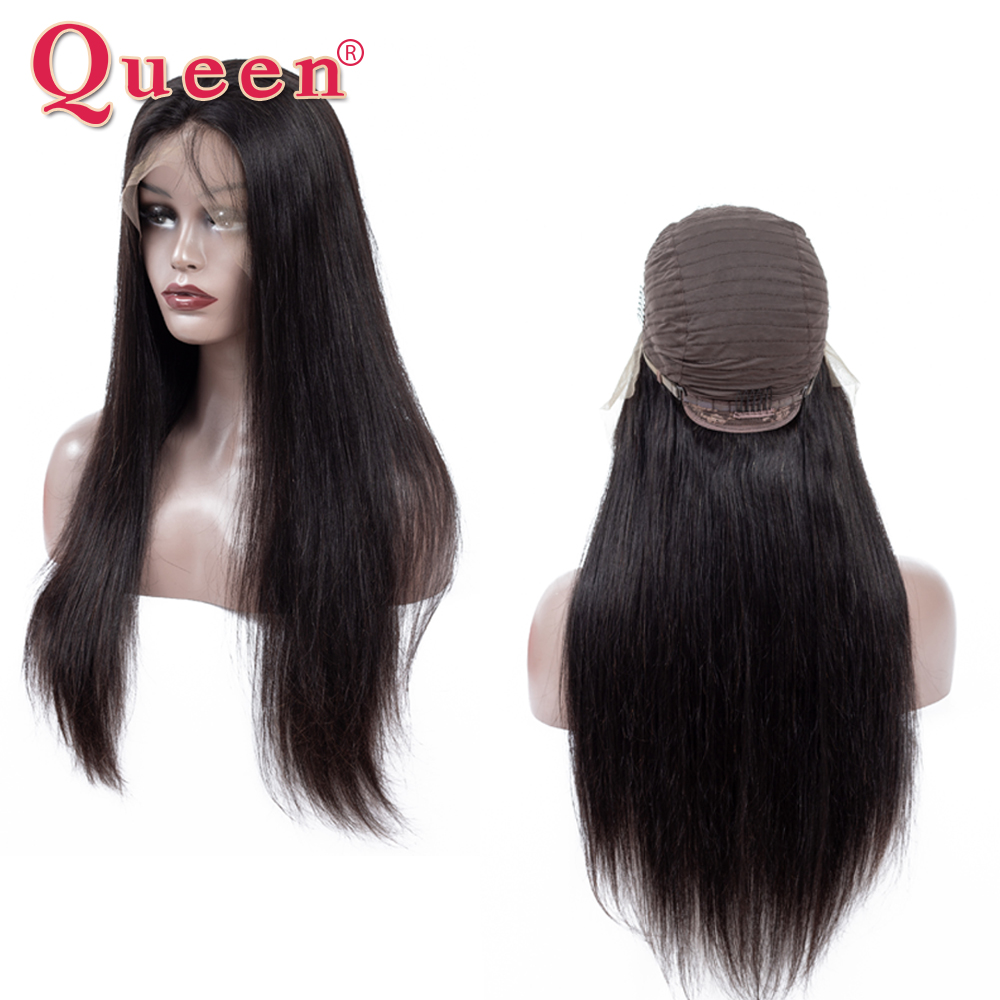 Straight 13*4 Lace Front Human Hair Wigs Swiss Lace Wig Pre Plucked For Black Women Remy Brazilian Lace Front Wig With Baby Hair