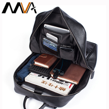 MVA Men Backpacks Genuine Leather Large Capacity Schoolbag Laptop Backpack Waterproof Travel desinger Teenager daypack for men