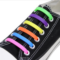Cordones de zapato elástico de silicona para hombres y mujeres, zapato elástico especial para perezosos, cordones para zapatillas deportivas, 12 Uds.