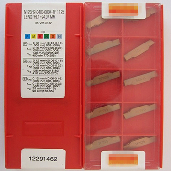 free shipping cnc carbide external grooving inserts N123H2-0400-0004-TF 1125 turning blade cutter
