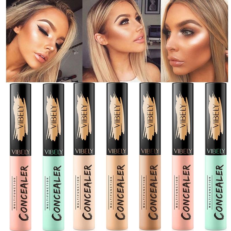 Professional Face Concealer Liquid Brighten Facial Natural Makeup Eye Dark Circles Corrector Make Up Full Cover Cosmetic Contour