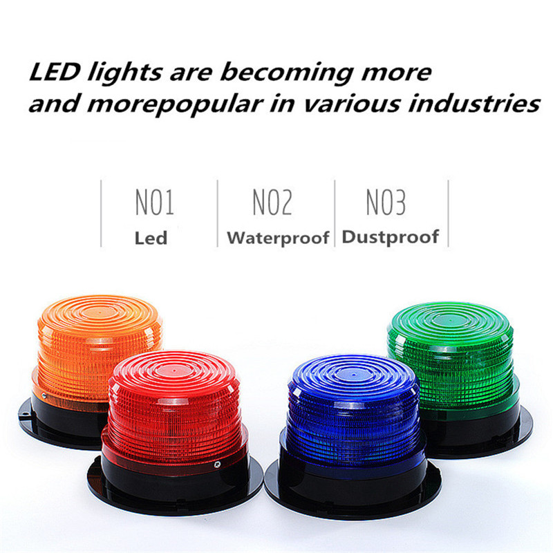 Rolling Car Truck Signal Warning Light 12V-60V LTE5095 Indicator Light LED Lamp Warning Flash Beacon Light