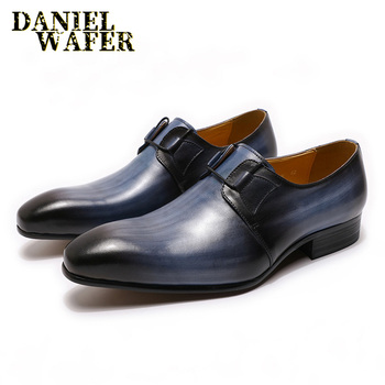Hand-polishing Oxford Shoes Fashion Derby Mens Leather Formal Dress Shoes Man Comfortable Office Wedding Party Leather Shoes Men