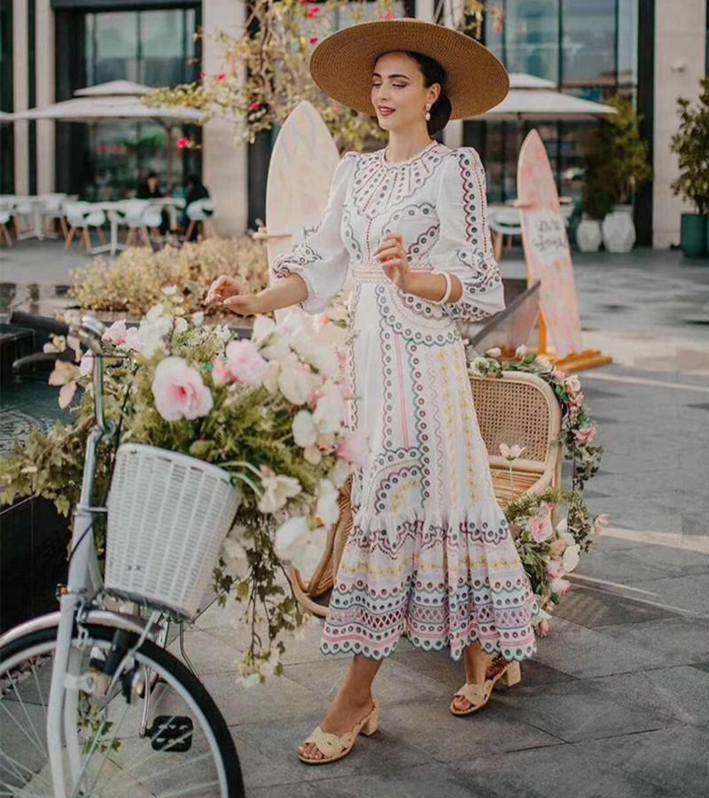 2020 New Arrive Women High Quality Embroidery Long Dress