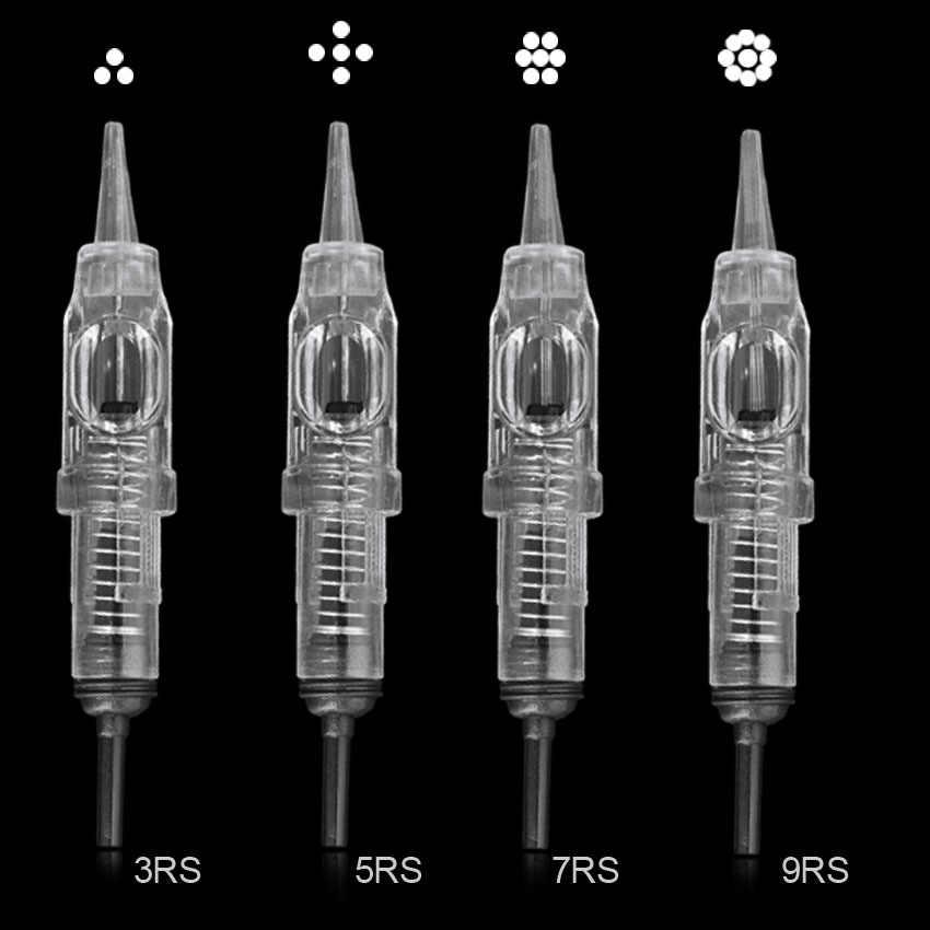 Cartridge Jarum Sekali Pakai Disterilkan Tato Make Up Permanen Jarum Tips untuk Alis Bibir Berbagai Macam Ukuran Cartridge Jarum