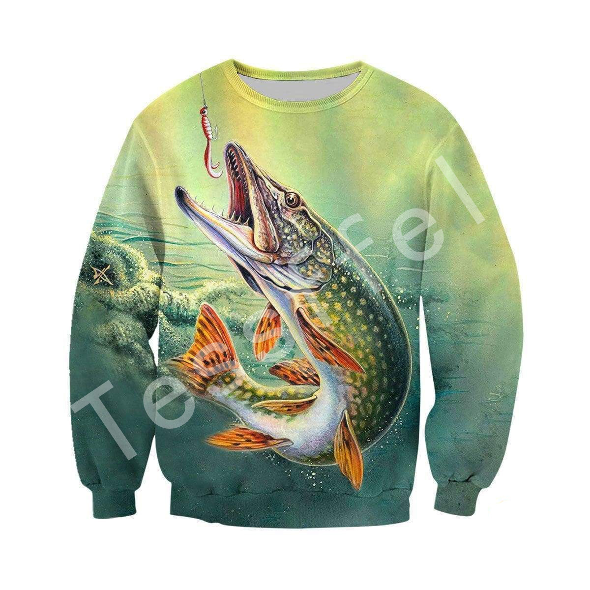 Tessffel animal deep fishing casual 3D Printed Hoodie Sweatshirt Jacket shirts Mens Womens HIP HOP fit colorful Harajuku style 5 in Hoodies amp Sweatshirts from Men 39 s Clothing