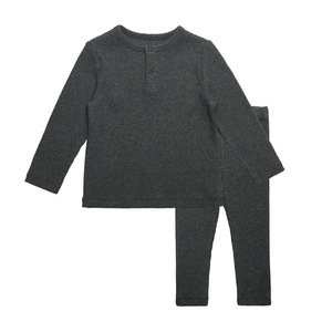 Image 3 - HITOMAGIC Boys Girls Clothes For Children Ribbed Set Fitted With Full Sleeve Kids Autumn Winter Cloth Pajama Sets Pants