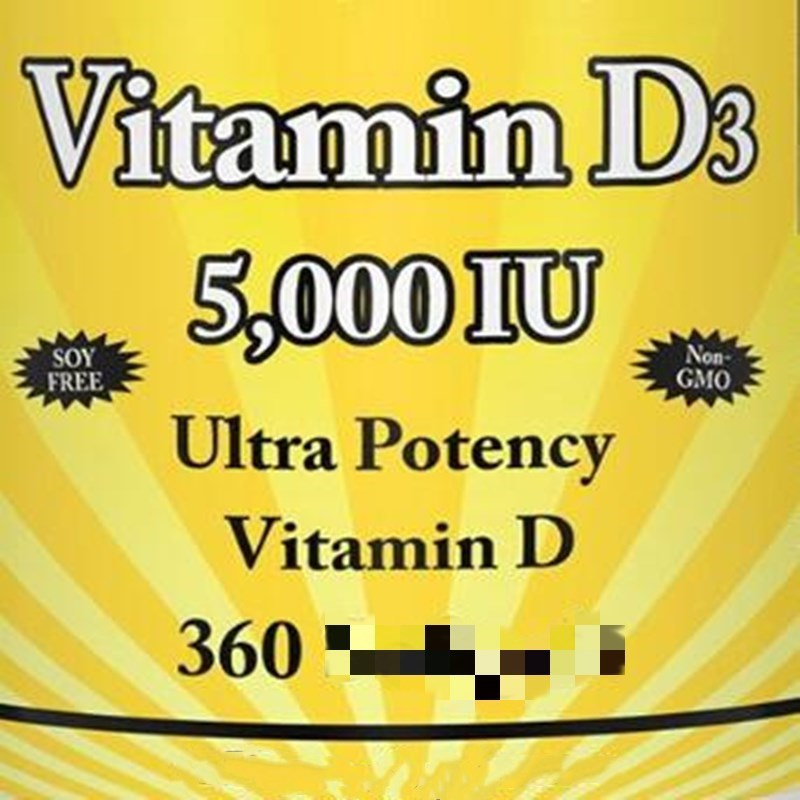 Fortified Vitamin D3,5000iu X 360 Pcs D-3 5,000IU,Improve The Absorption Of Calcium And Phosphorus,strengthen And Promote Growth
