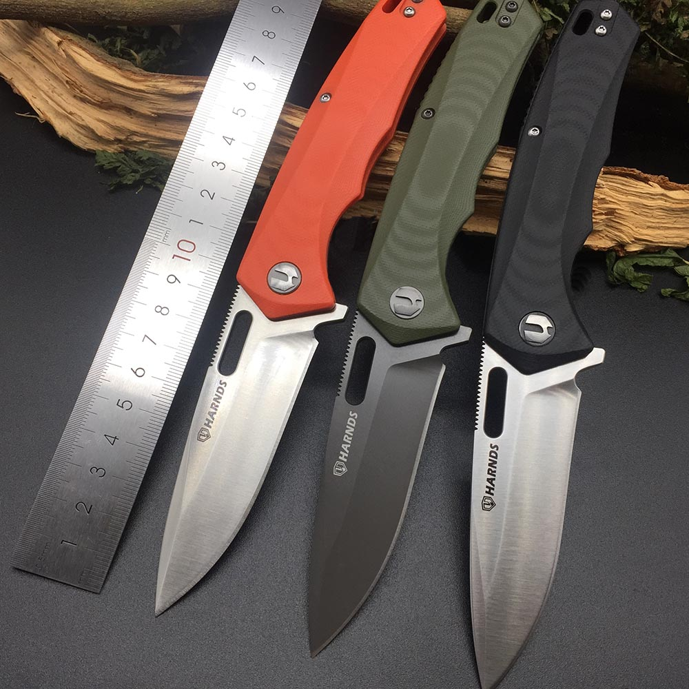 Harnds CK6118 Castor AUS-8 Blade G10 Handle Folding Knife HRC58-59 Outdoor Camping Survival Military EDC Tool bushcraft Knives image