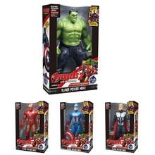 Pçs/set 4 Marvel Avengers Capitão América Homem De Ferro Hulk Thor 19cm Modelo Boneca Crianças Educacional Toy Figuras de Ação Presente de Aniversário